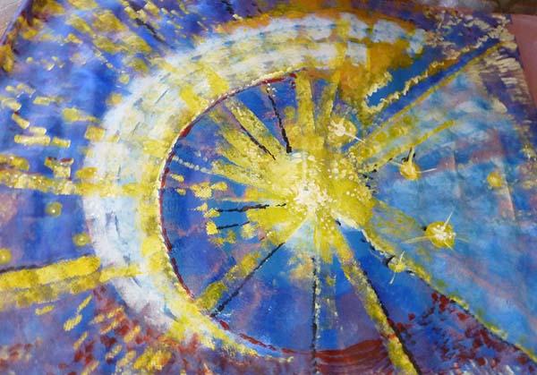 Star field Cut up Art