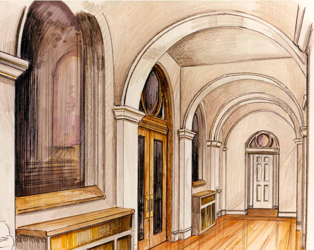 rendering - hall