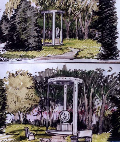Memorial Sculpture-Rendering
