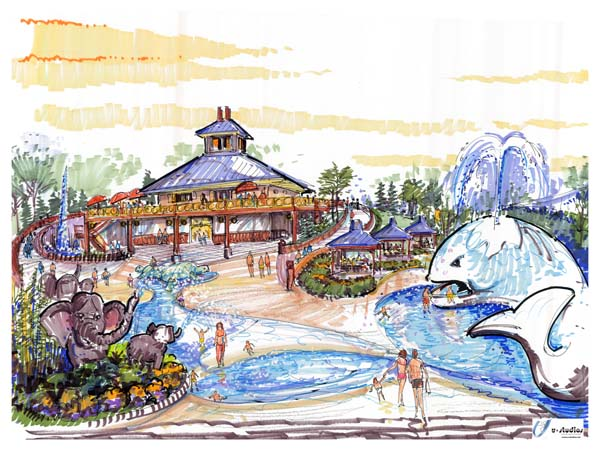 Water Park plaza